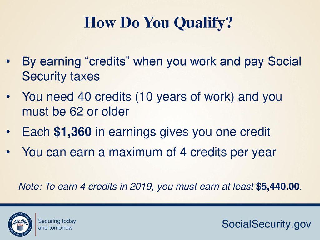 how you earn credits 2019