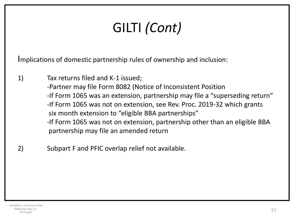 form 1065 gilti  International Aspects Of Tax Cuts and Jobs Act (7) - ppt ...