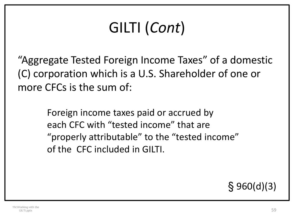 form 8992 tested income  International Aspects Of Tax Cuts and Jobs Act (17) - ppt ...