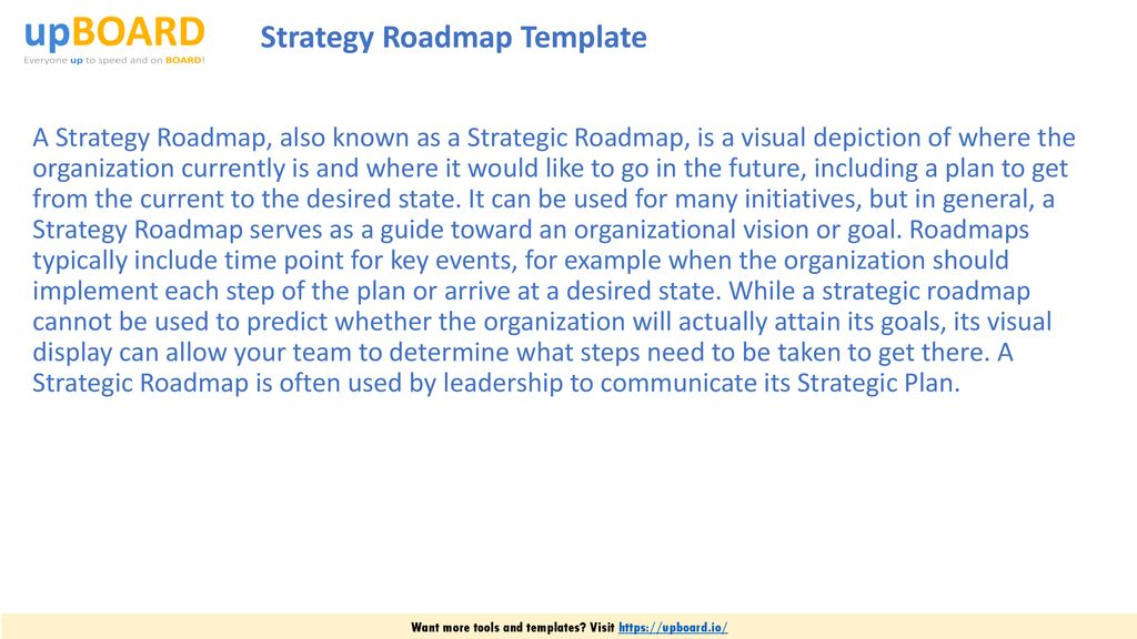 Strategic Roadmap Template from slideplayer.com