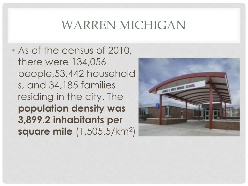 Population Density In Michigan And Beyond Ppt Download