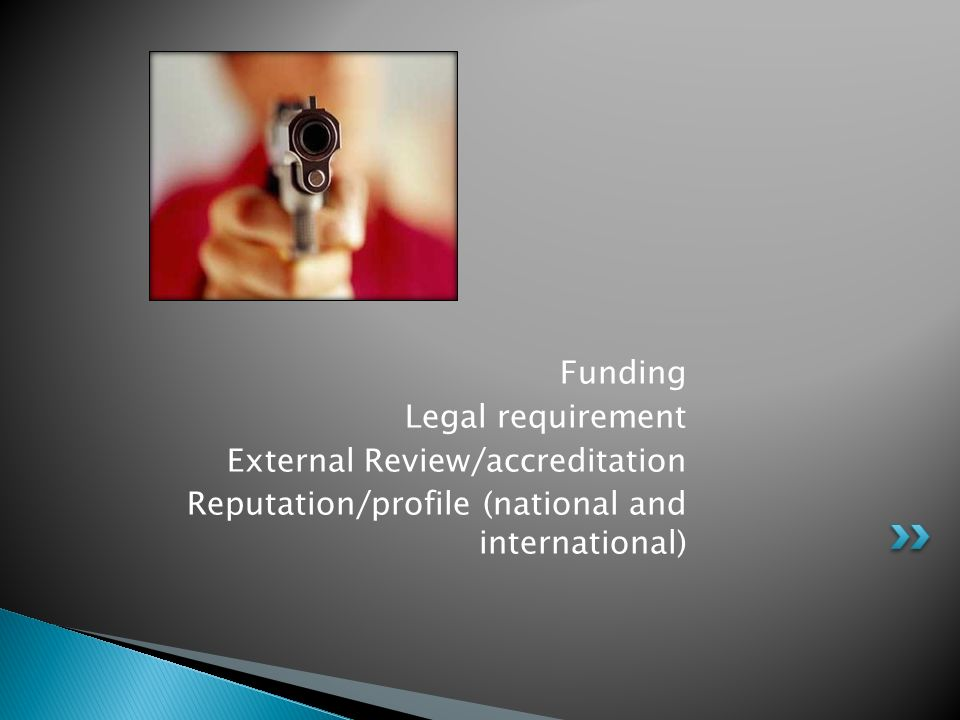 External Review/accreditation