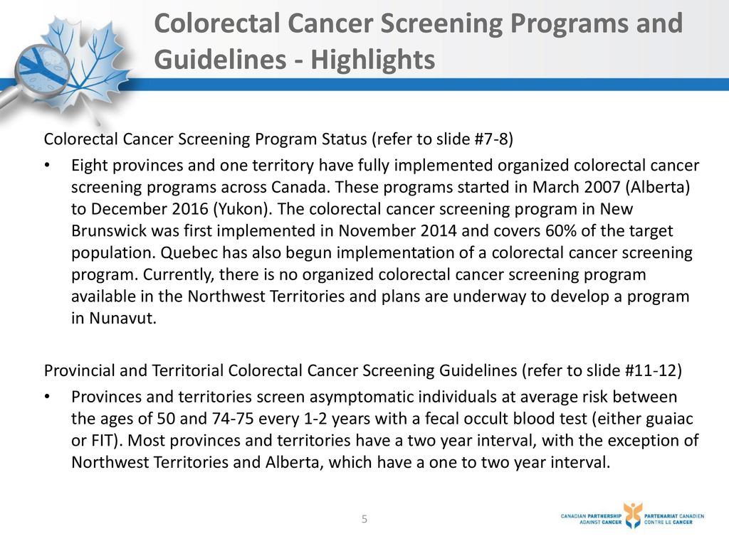 Colorectal Cancer Screening In Canada Ppt Download