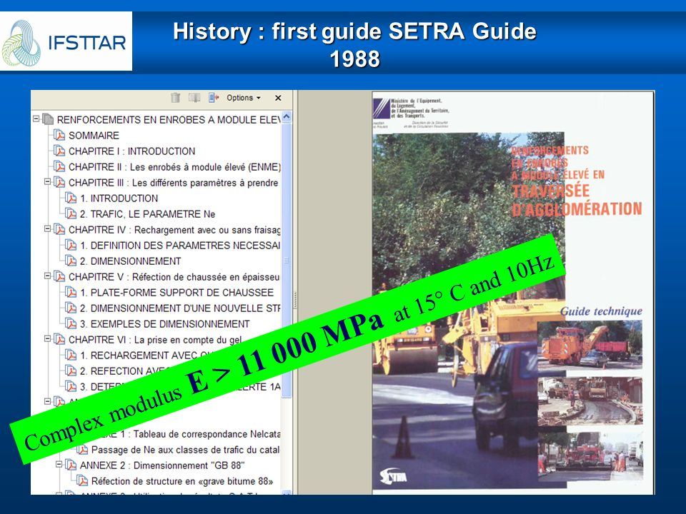History : first guide SETRA Guide 1988