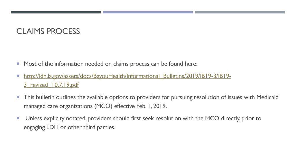 Louisiana Medicaid MCO Association - ppt download