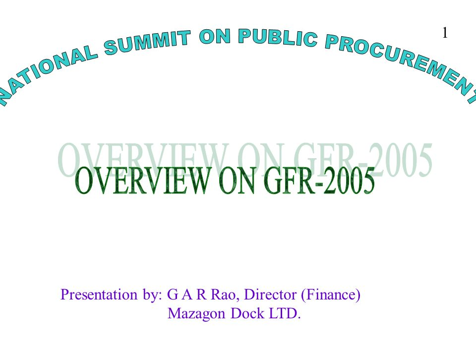 NATIONAL SUMMIT ON PUBLIC PROCUREMENT