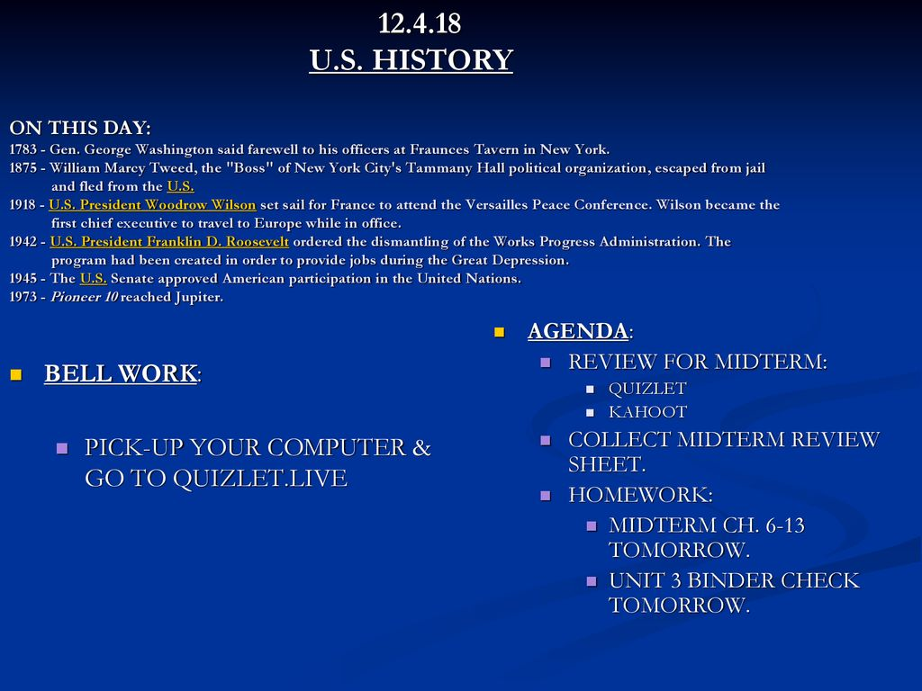 U S History On This Day Gen Ppt Download