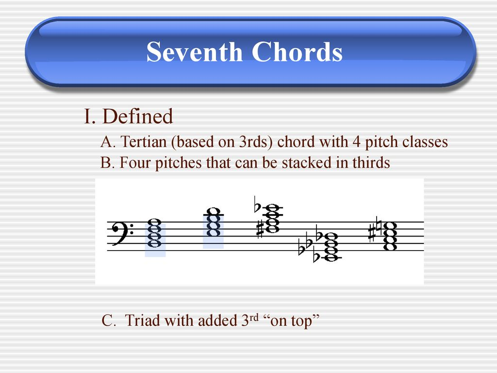 Seventh Chords.   ppt download