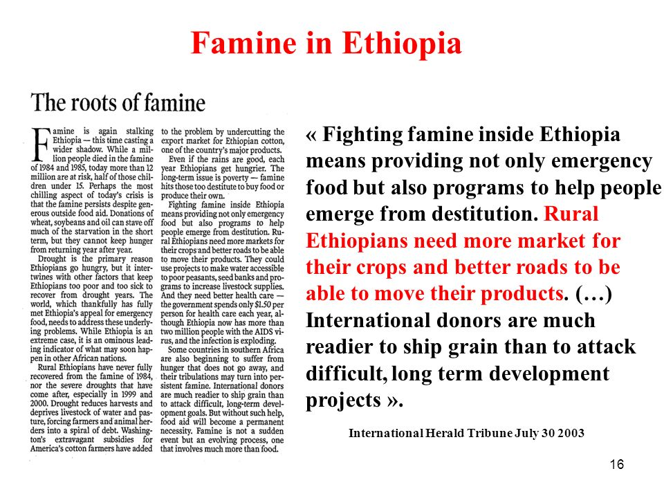 Famine in Ethiopia « Fighting famine inside Ethiopia