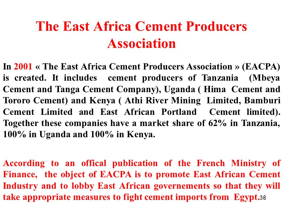 The East Africa Cement Producers Association