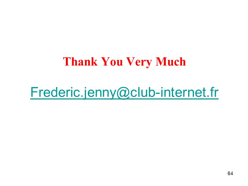 Thank You Very Much Frederic.jenny@club-internet.fr