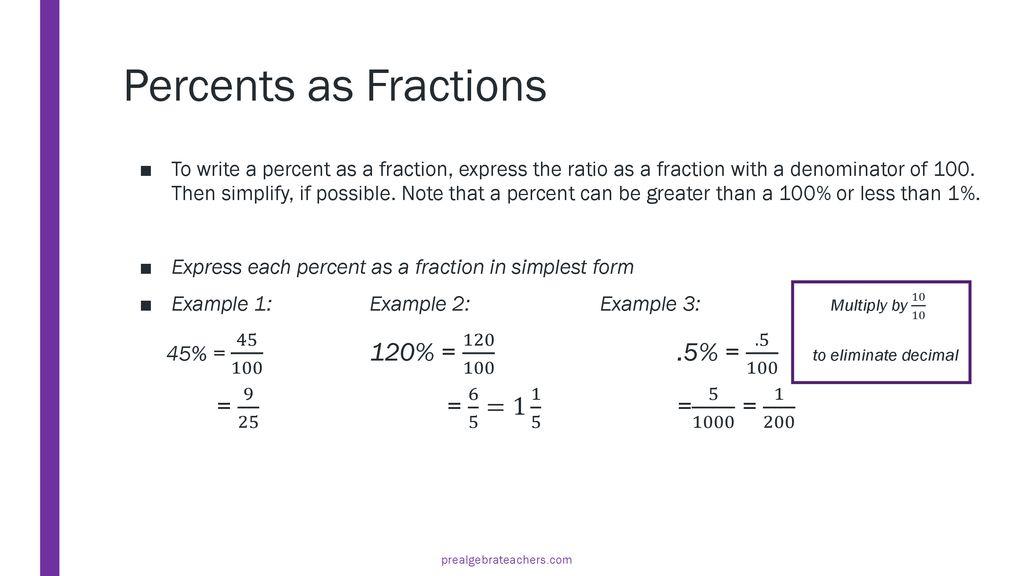 Fractions Decimals And Percents Ppt Download