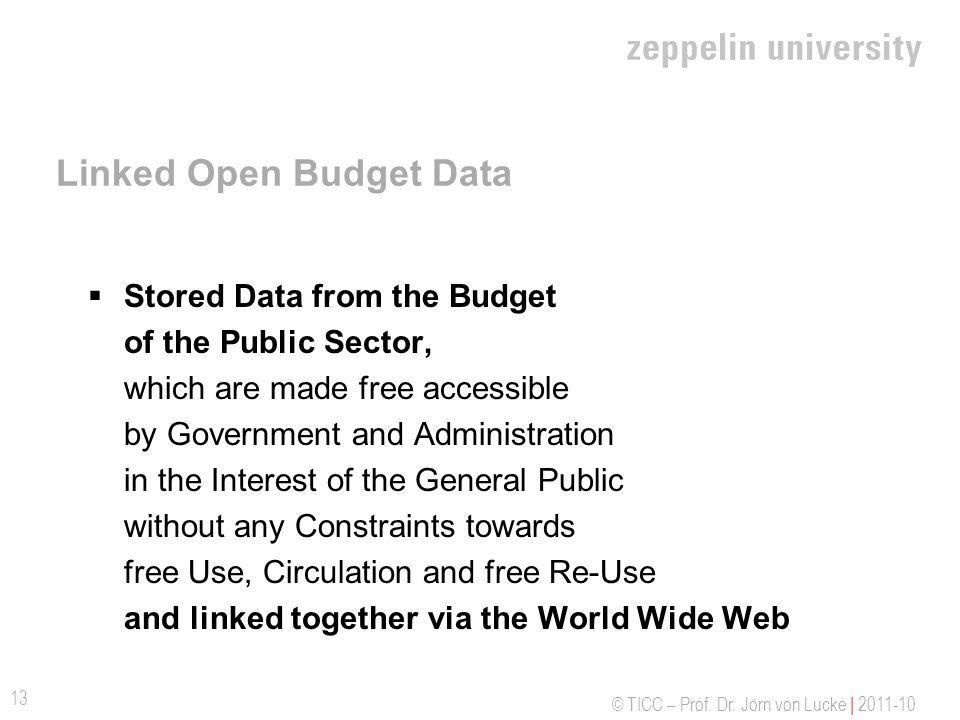 Linked Open Budget Data