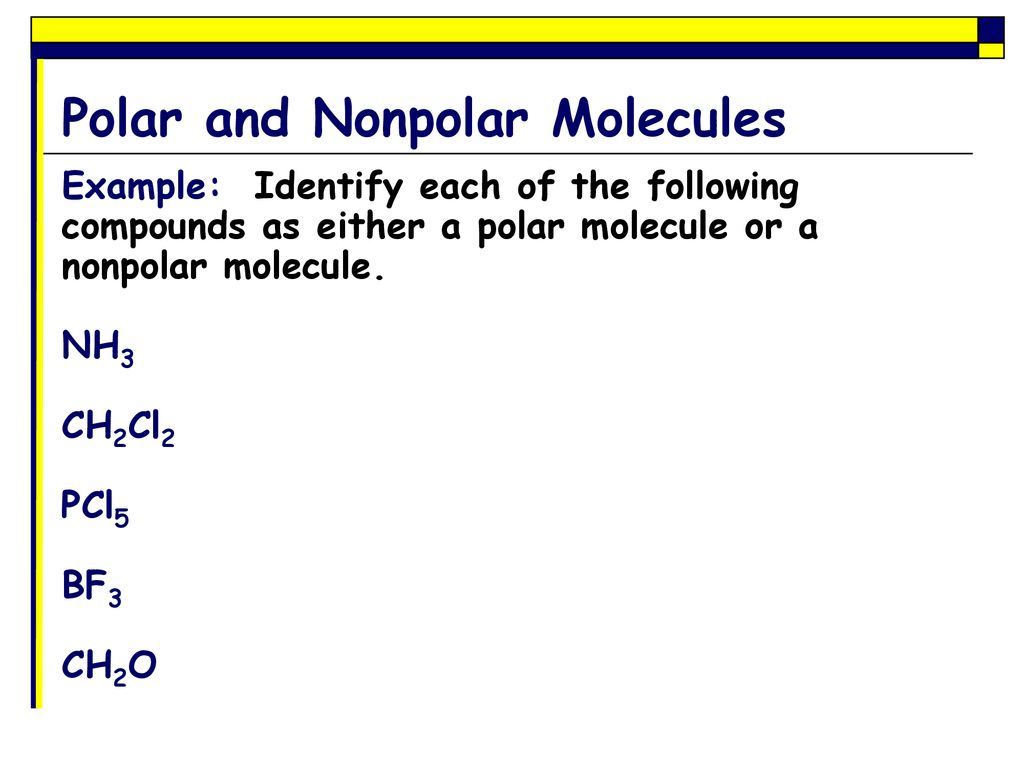 Polar And Nonpolar Covalent Bonds Ppt Download