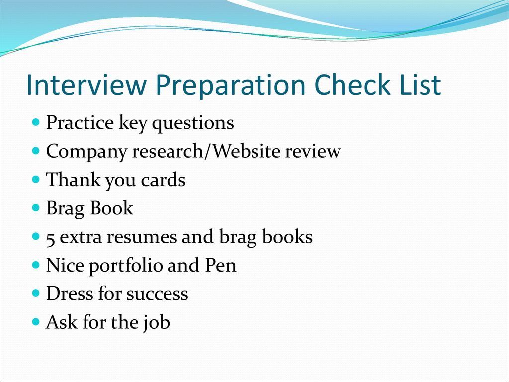 brag book for interview