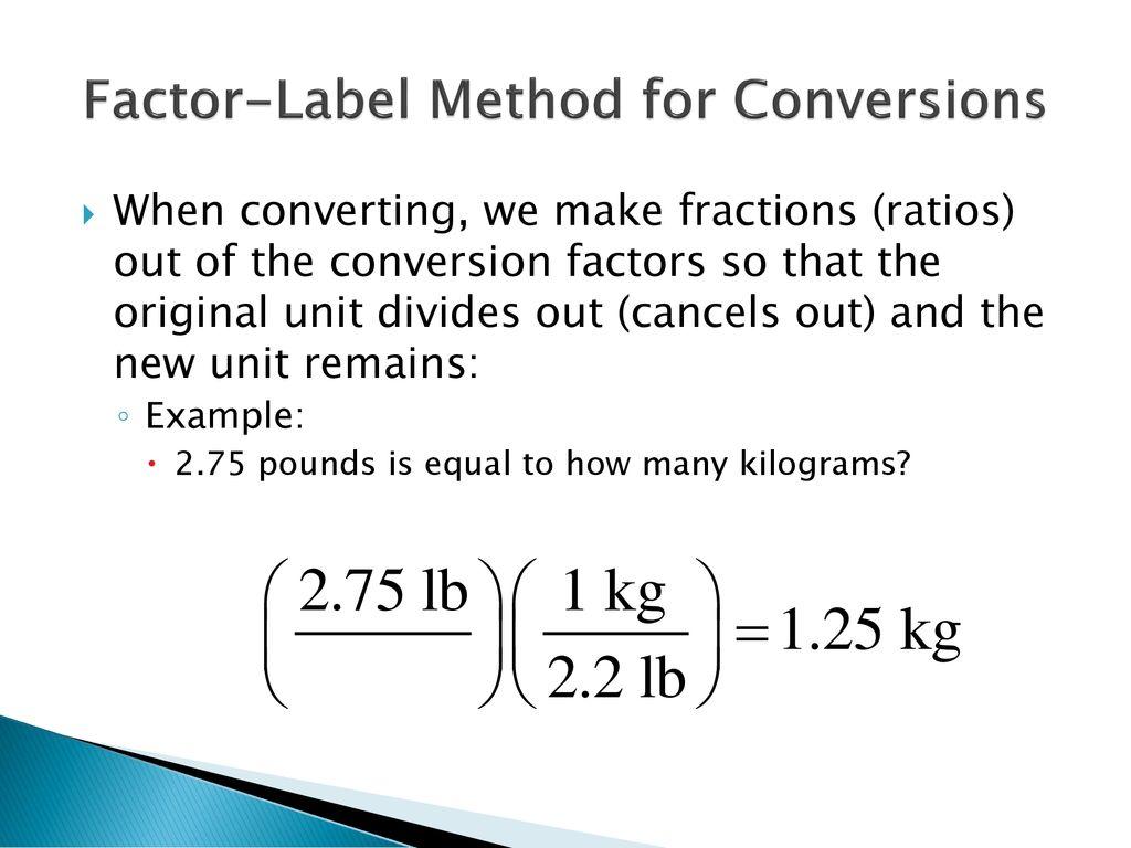 34 Factor Label Method Practice Labels Database 2020