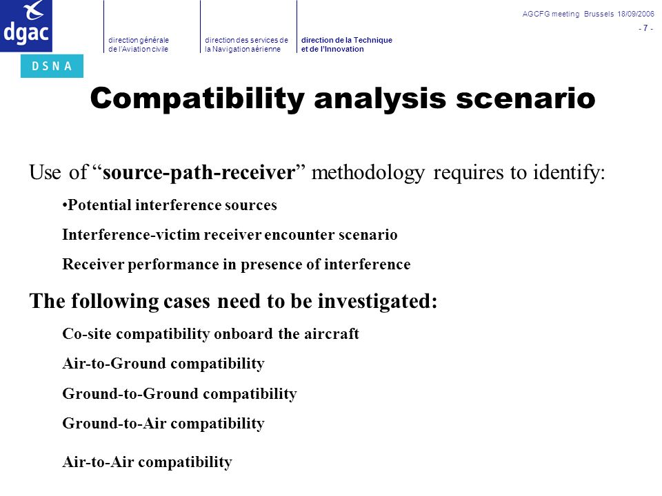 Compatibility analysis scenario