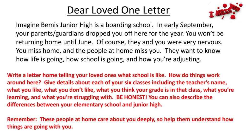 Letter To Your Loved One from slideplayer.com
