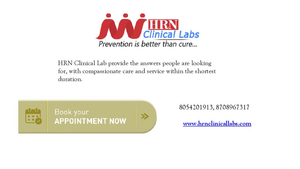 HRN Clinical Lab provide the answers people are looking for, with compassionate care and service within the shortest duration.