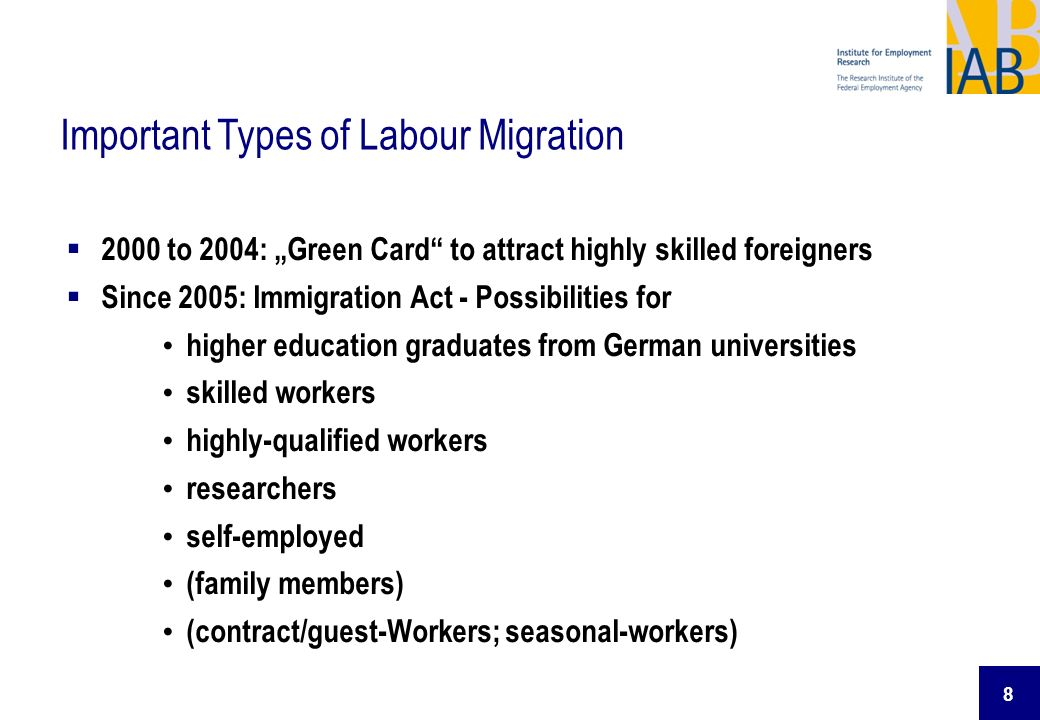 Important Types of Labour Migration