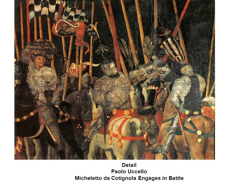 Detail Paolo Uccello Micheletto da Cotignola Engages in Battle