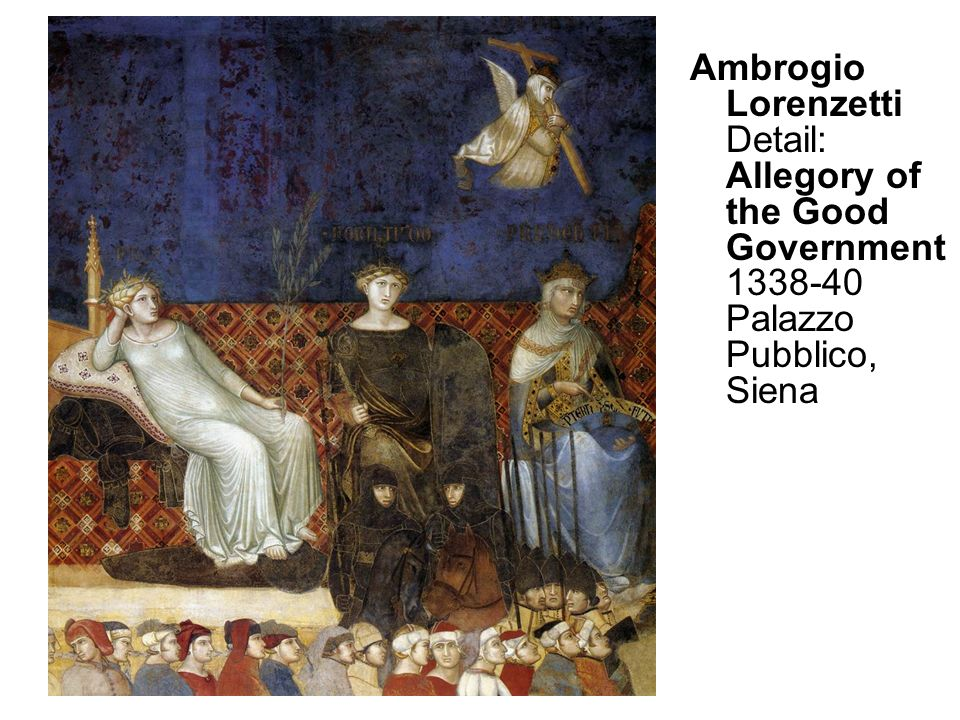 Ambrogio Lorenzetti Detail: Allegory of the Good Government 1338-40 Palazzo Pubblico, Siena