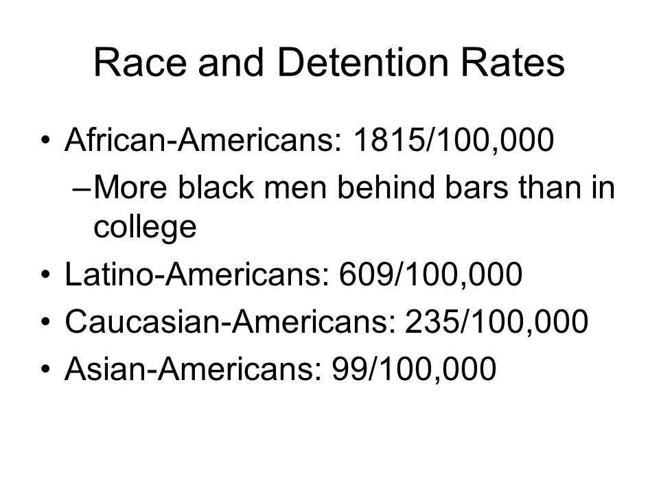 Race and Detention Rates