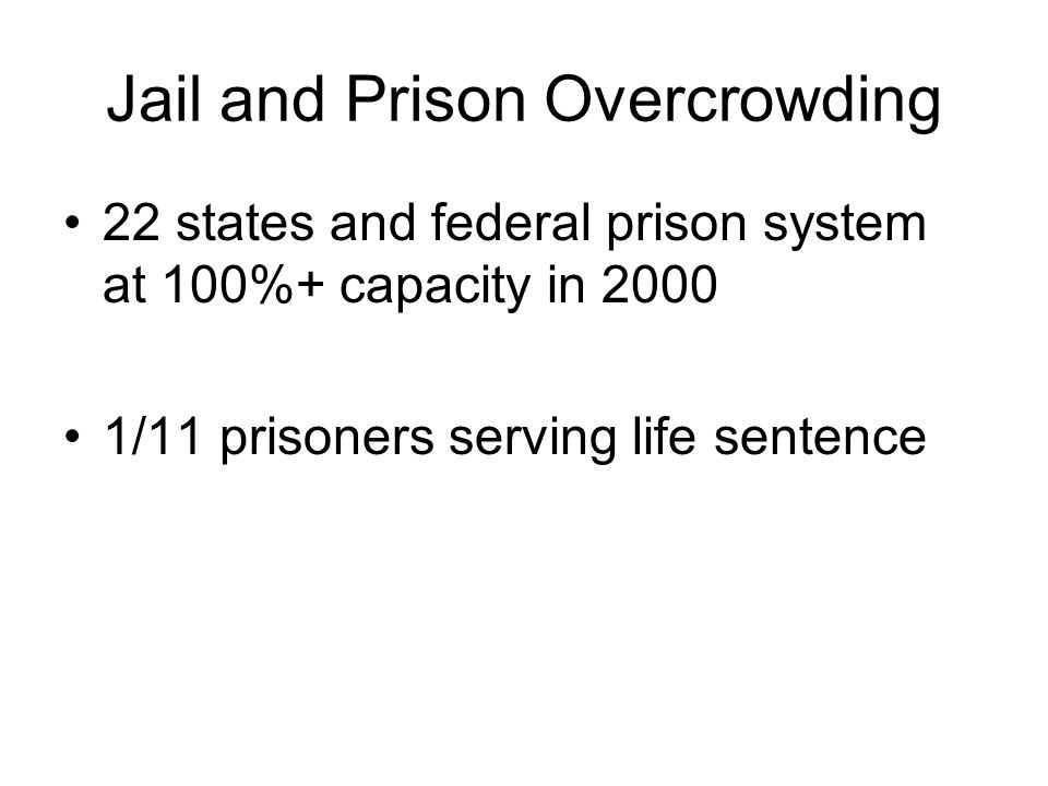 Jail and Prison Overcrowding