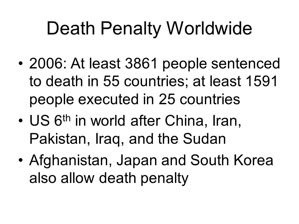 Death Penalty Worldwide