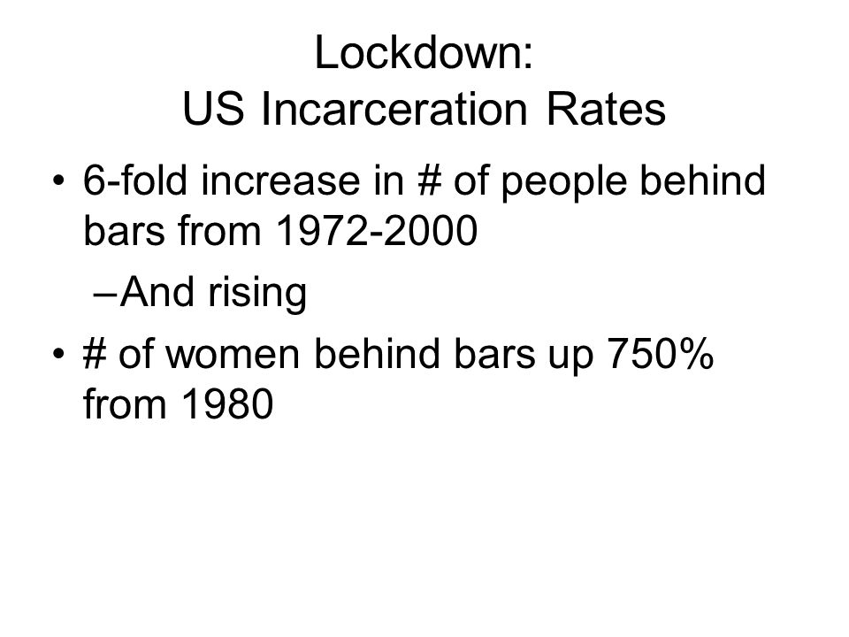 Lockdown: US Incarceration Rates
