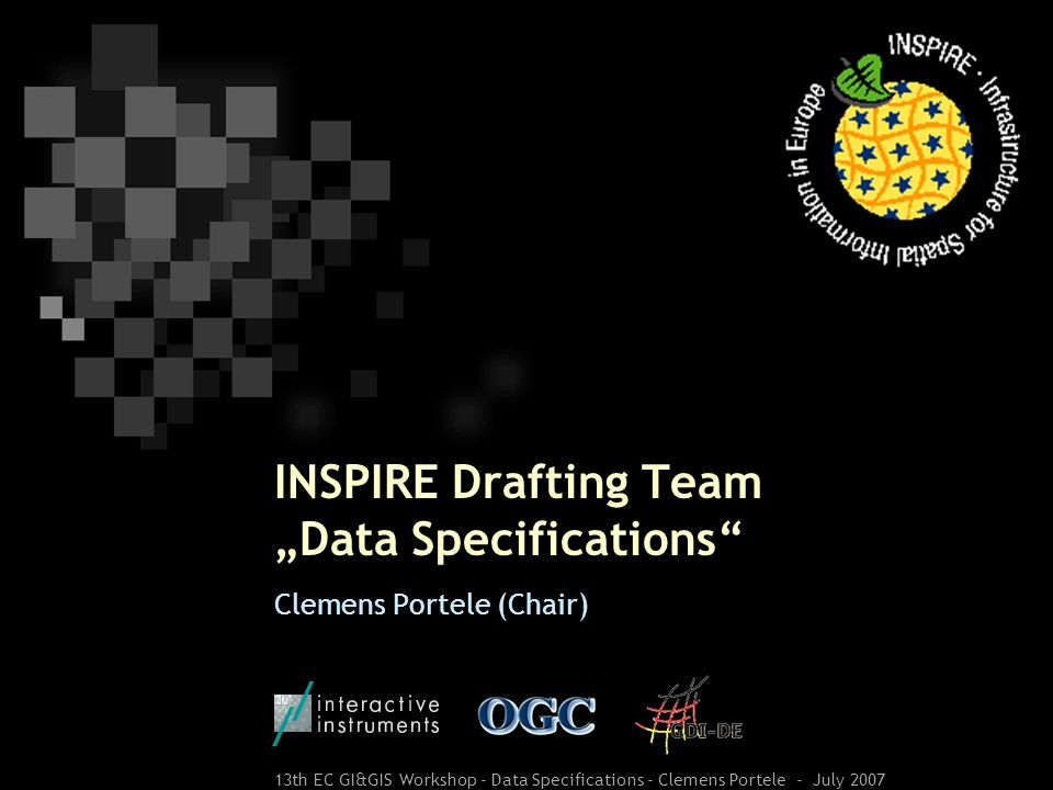 "INSPIRE Drafting Team ""Data Specifications"