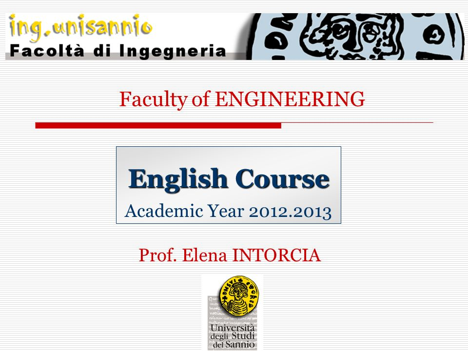 English Course Academic Year