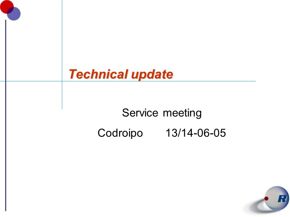 Service meeting Codroipo 13/