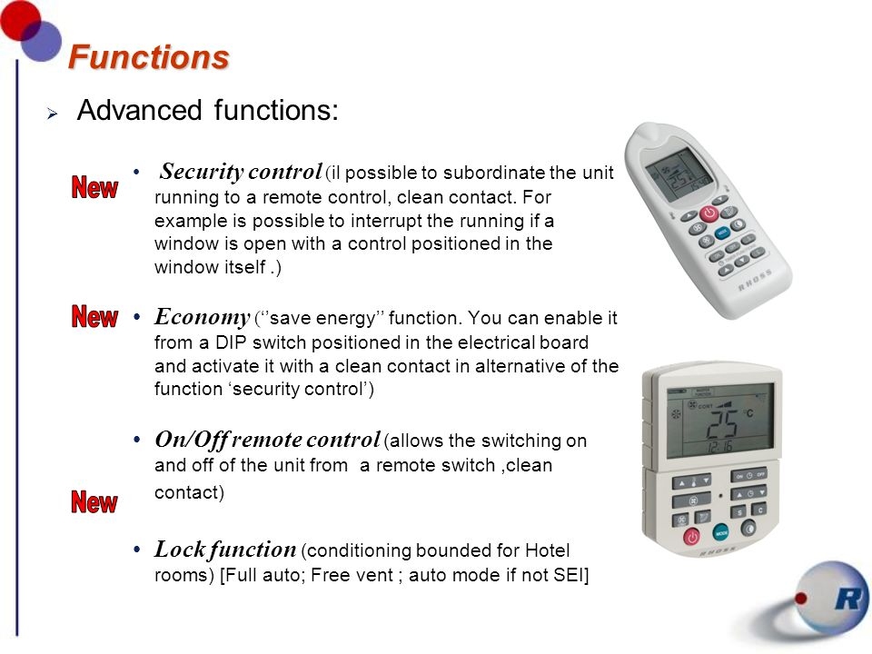 Functions Advanced functions: