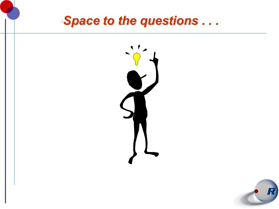 Space to the questions . . .