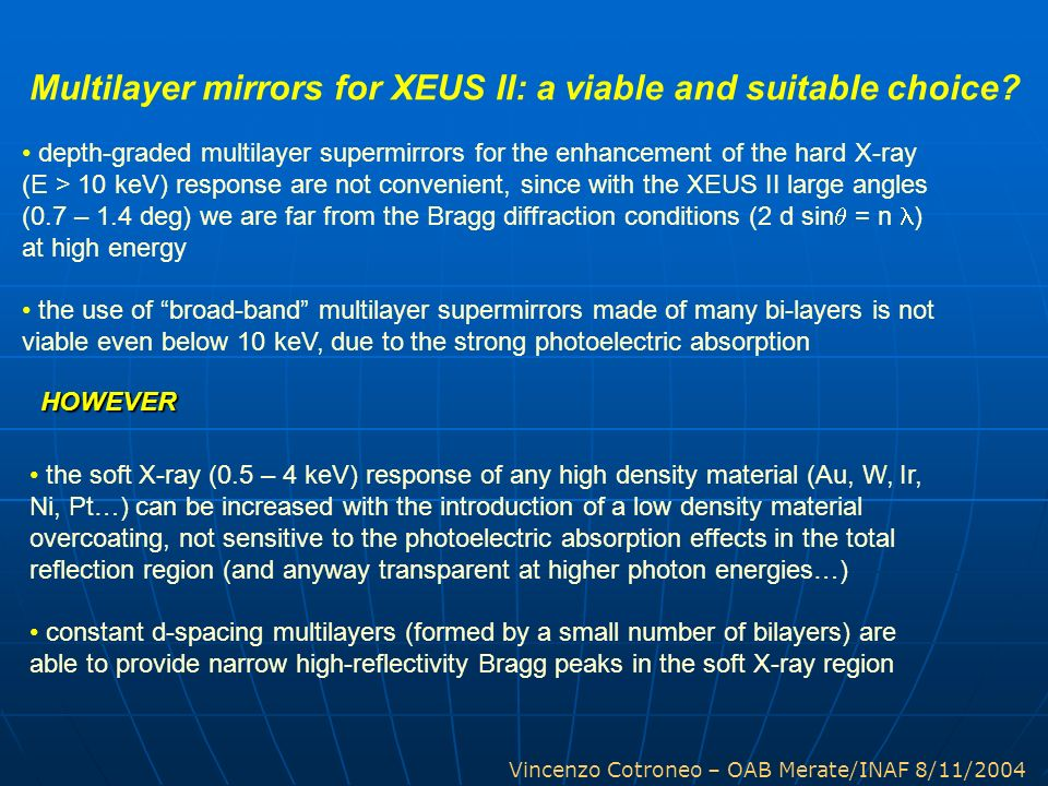 Multilayer mirrors for XEUS II: a viable and suitable choice