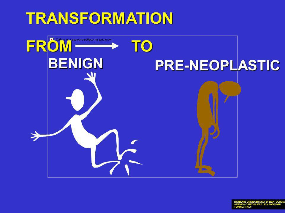 TRANSFORMATION FROM TO BENIGN PRE-NEOPLASTIC