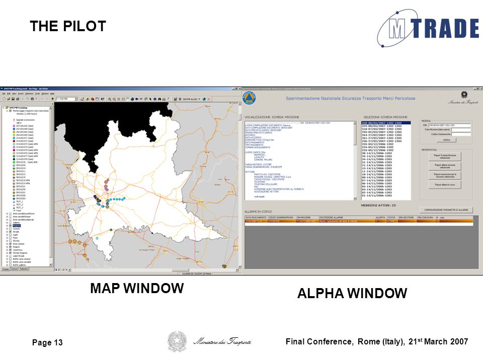 THE PILOT MAP WINDOW ALPHA WINDOW
