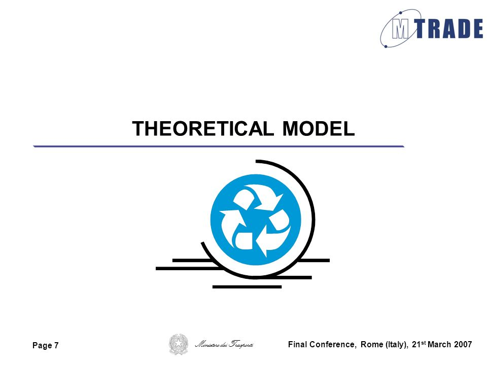 THEORETICAL MODEL Final Conference, Rome (Italy), 21st March 2007