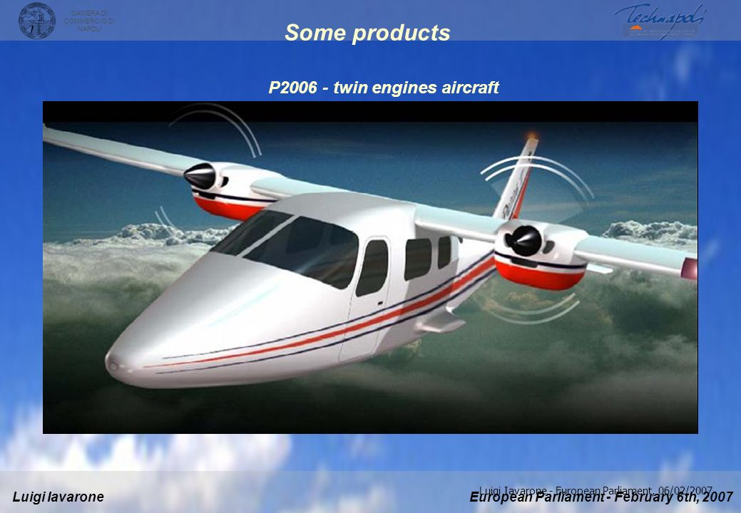 P twin engines aircraft