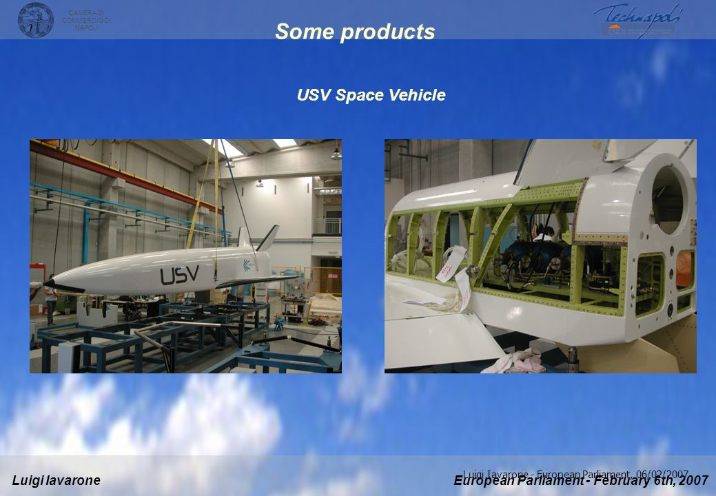 Some products USV Space Vehicle