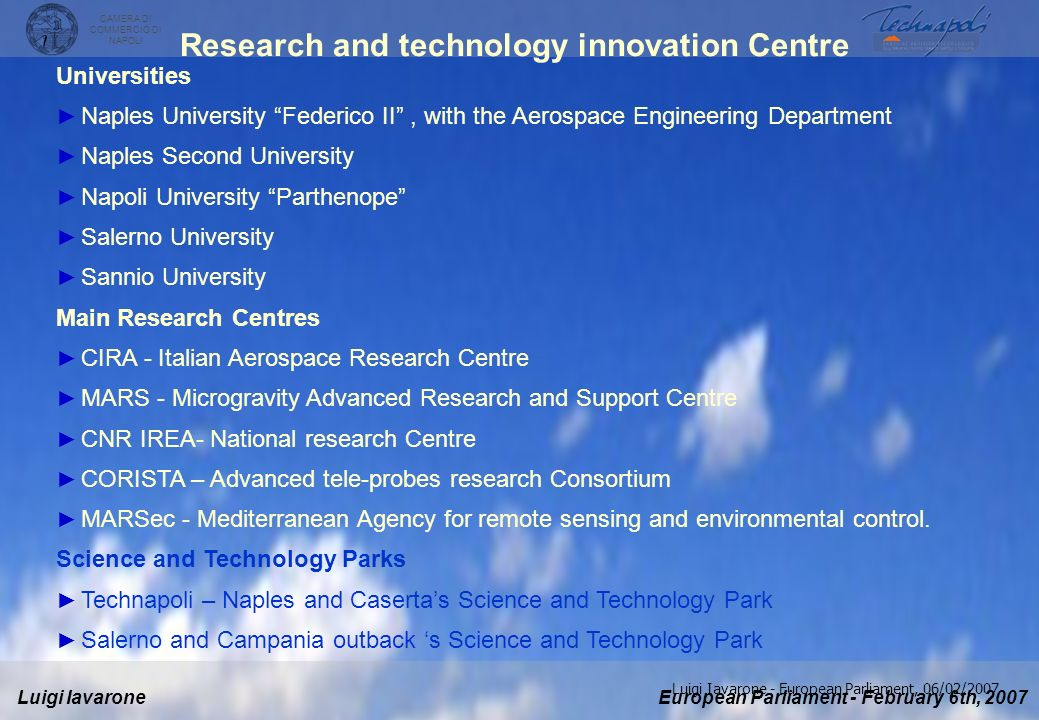 Research and technology innovation Centre