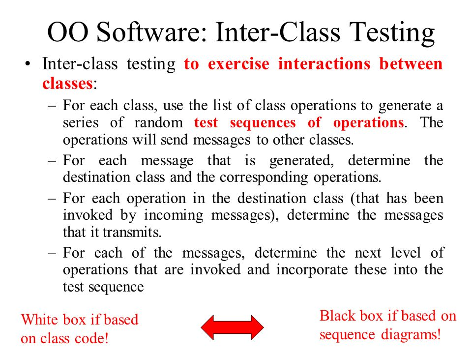 OO Software: Inter-Class Testing