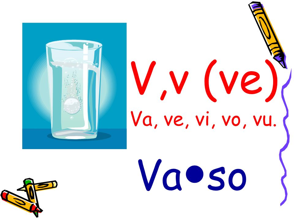 V,v (ve) Va, ve, vi, vo, vu. Va●so