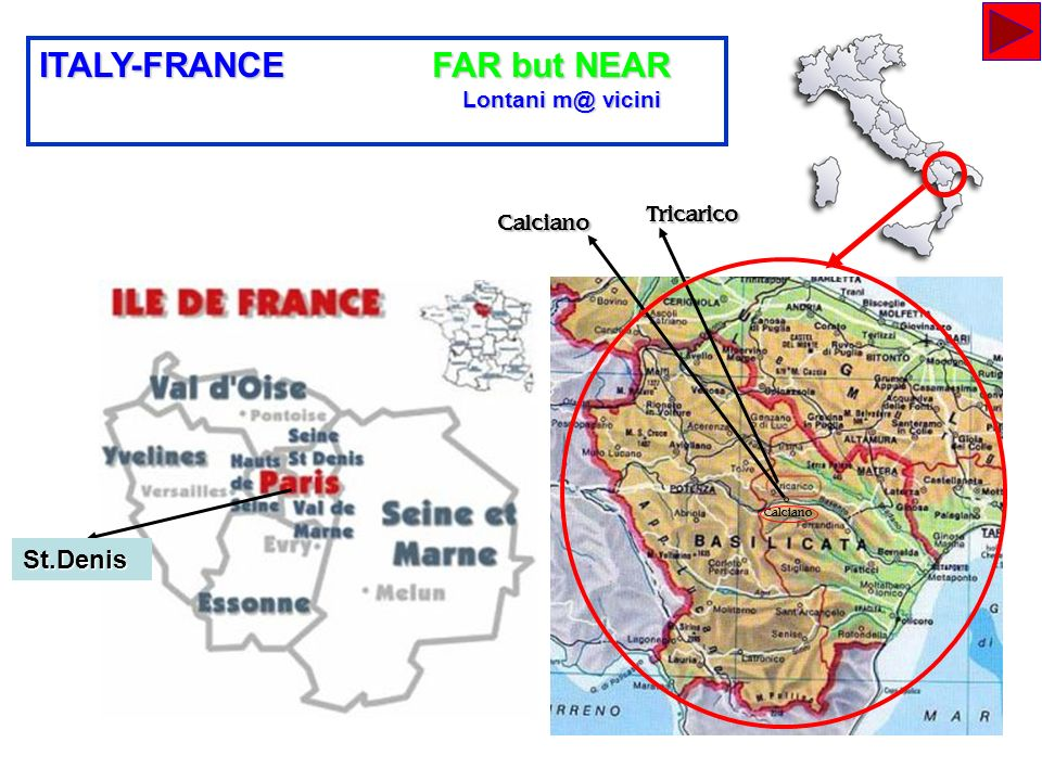 ITALY-FRANCE FAR but NEAR
