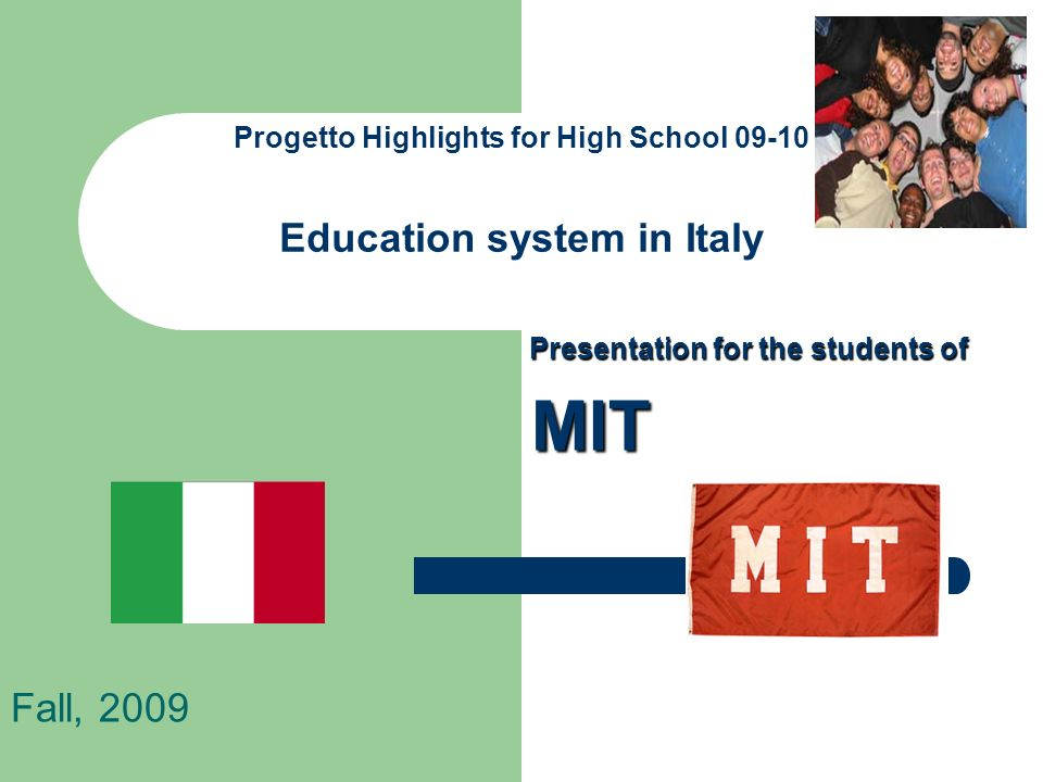 Progetto Highlights for High School Education system in Italy