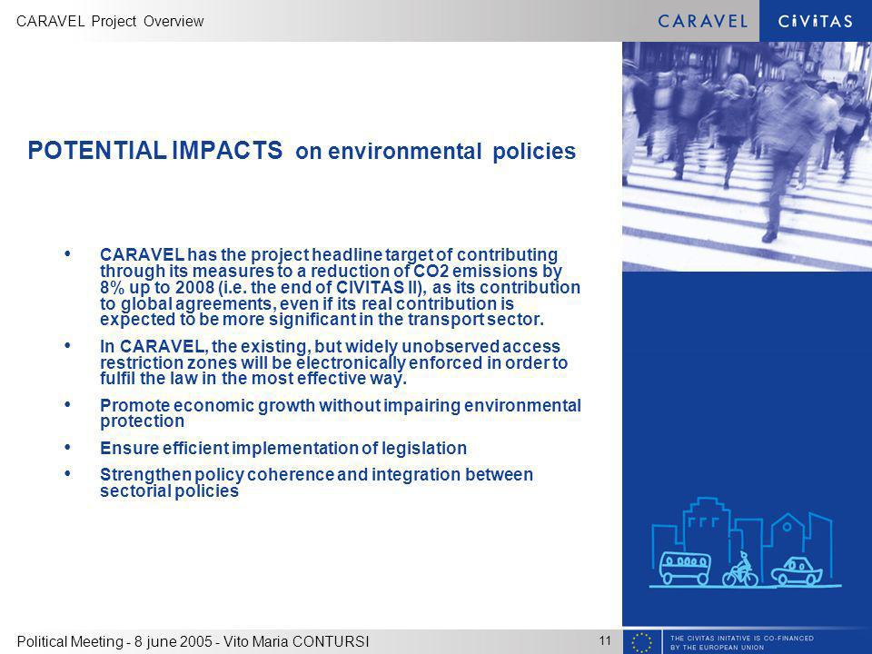 POTENTIAL IMPACTS on environmental policies