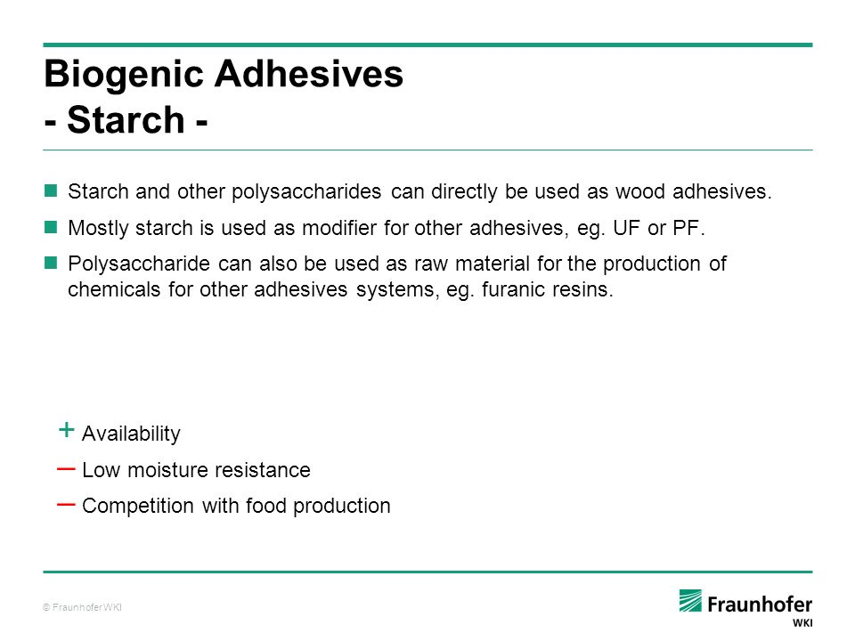 Biogenic Adhesives - Starch -