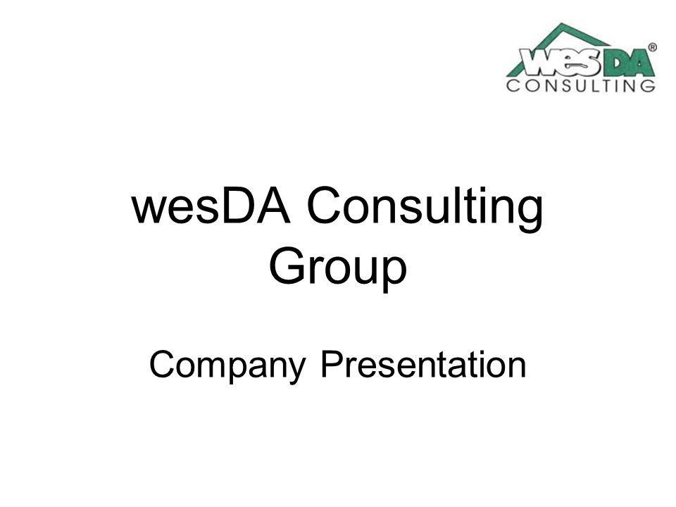 wesDA Consulting Group Company Presentation