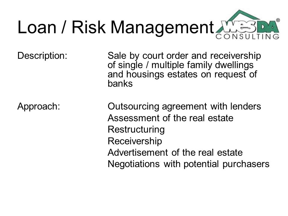 Loan / Risk Management